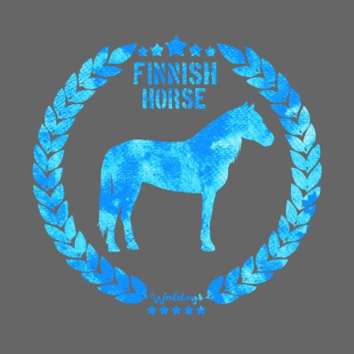 Finnish Horse Army Blue - Miesten premium t-paita