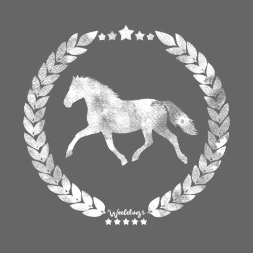 Horse Grey Silver Army - Miesten premium t-paita
