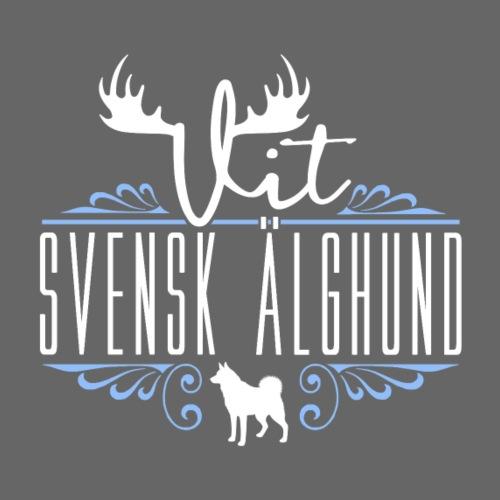 Vit Svensk Älghund - Miesten premium t-paita