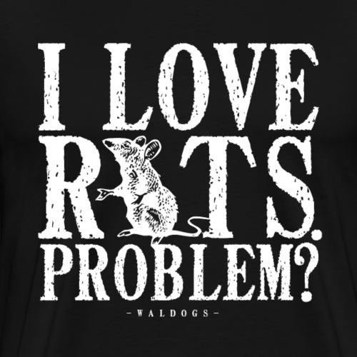Rats Problem? W - Miesten premium t-paita