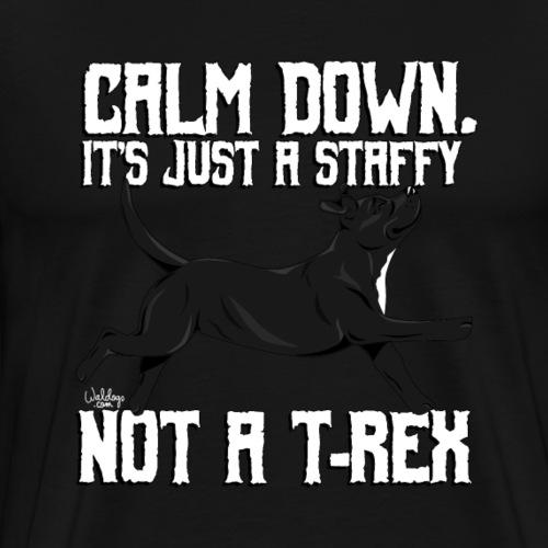 staffytrex4 - Men's Premium T-Shirt