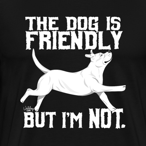 staffyfriendly3 - Men's Premium T-Shirt