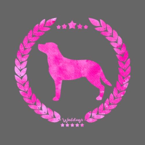 Labrador Army Pink - Miesten premium t-paita