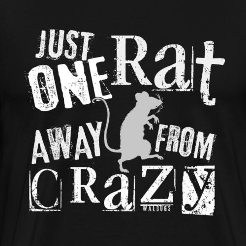 One Rat Crazy W - Miesten premium t-paita