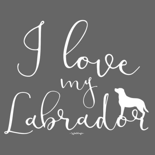 ilovemylabrador - Miesten premium t-paita
