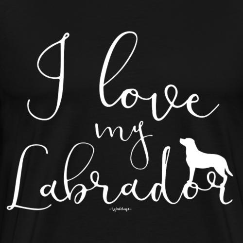 ilovemylabrador - Premium T-skjorte for menn