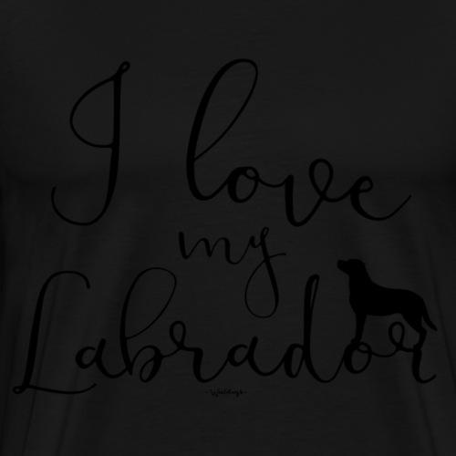 ilovemylabrador2 - Premium T-skjorte for menn
