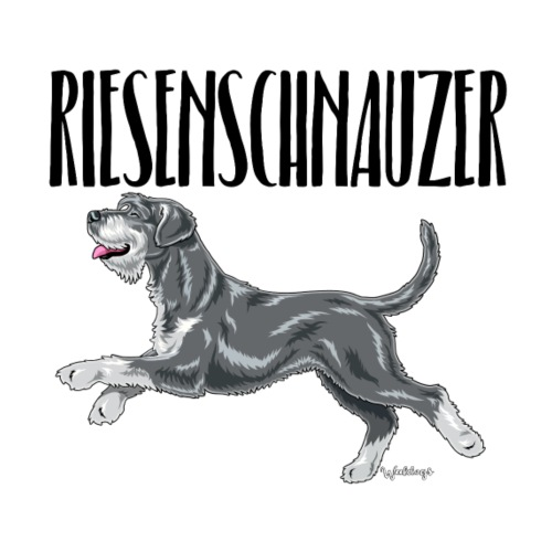 Riesenschnauzer 01 - Miesten premium t-paita
