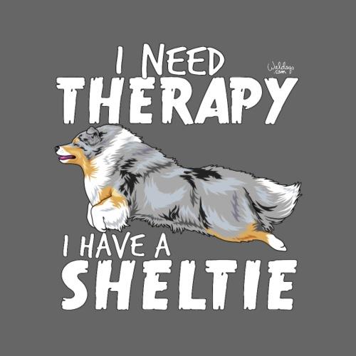 sheltietherapy3 - Miesten premium t-paita