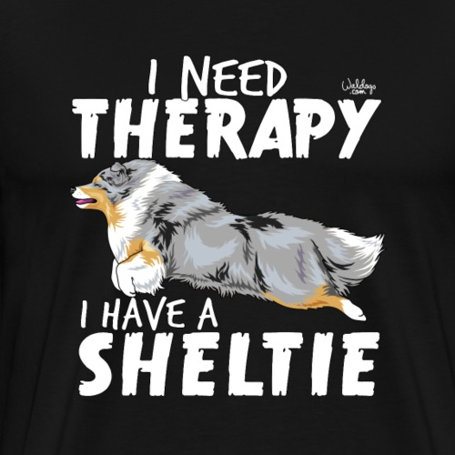 sheltietherapy3 - Men's Premium T-Shirt