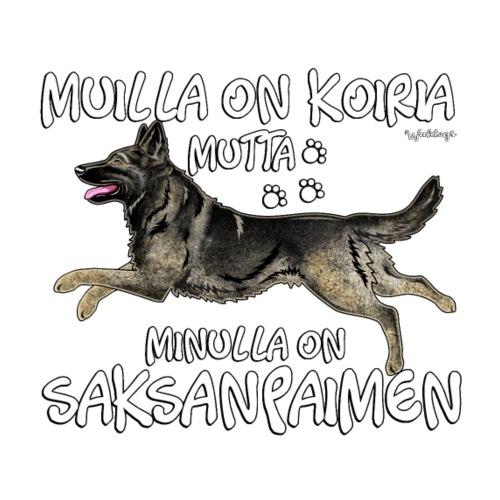 Saksanpaimen Koiria - Miesten premium t-paita