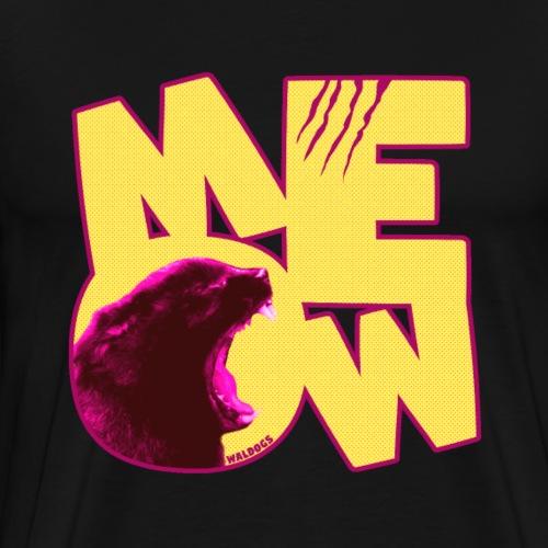 Retro MEOW - Miesten premium t-paita