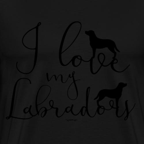 ilovemylabs2 - Premium T-skjorte for menn