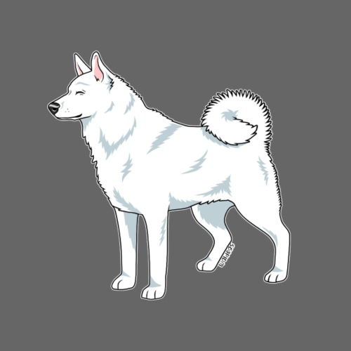 Valkoinen Ruotsinhirvikoi - Miesten premium t-paita