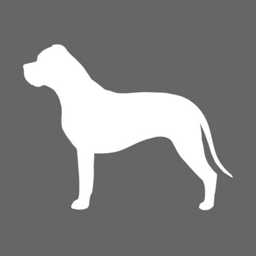 American Bulldog Silh - Miesten premium t-paita
