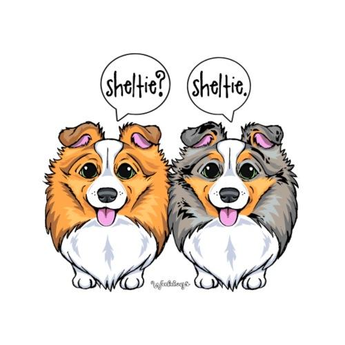 Sheltie Sheltie 3 - Miesten premium t-paita