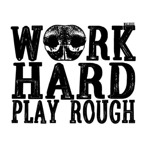 Nose Work Hard - Miesten premium t-paita