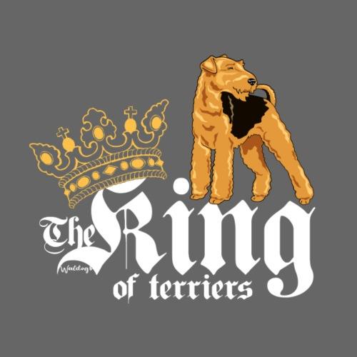 Airedale King of 01 - Miesten premium t-paita
