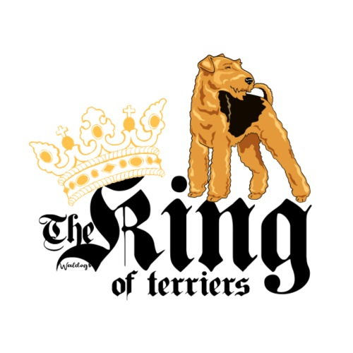 Airedale King of 02 - Miesten premium t-paita
