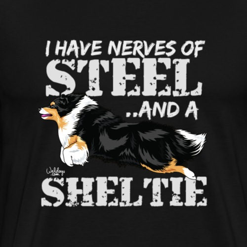 sheltiesteel2 - Men's Premium T-Shirt