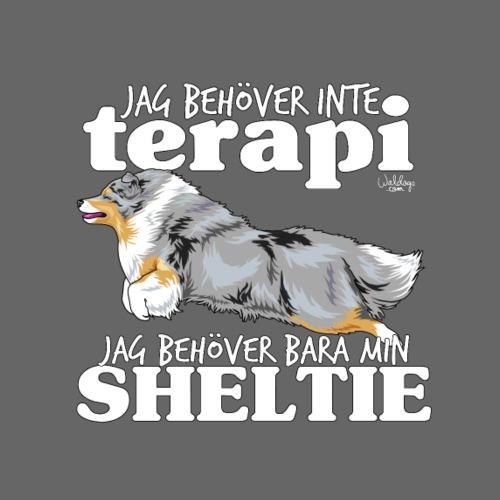 sheltieterapi - Miesten premium t-paita