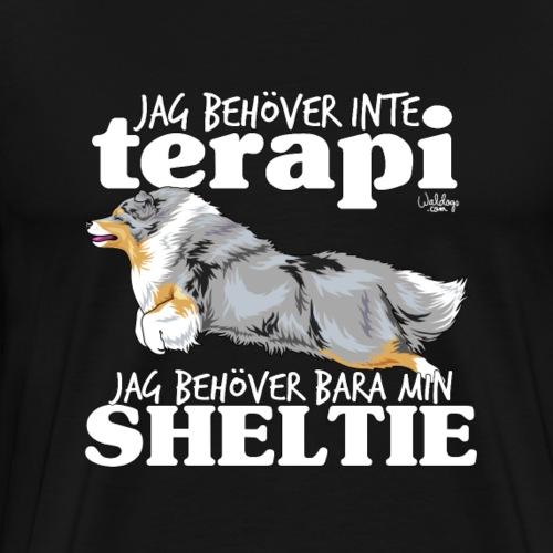 sheltieterapi - Premium T-skjorte for menn