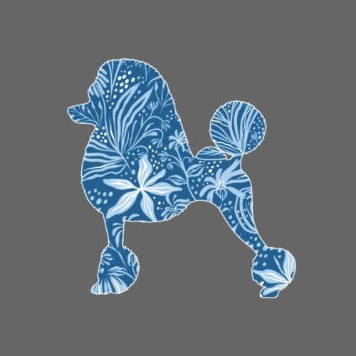 Flower Poodle Blue I - Miesten premium t-paita