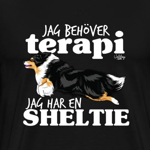 sheltieterapi5 - Premium T-skjorte for menn