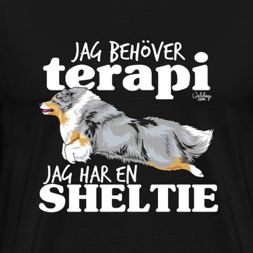 sheltieterapi6 - Premium T-skjorte for menn