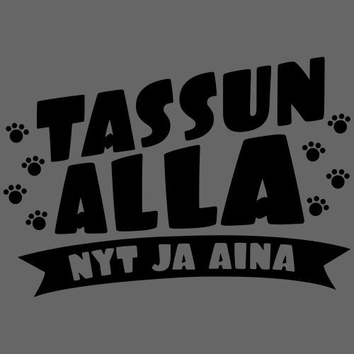 Tassun Alla nyt ja Aina - Miesten premium t-paita