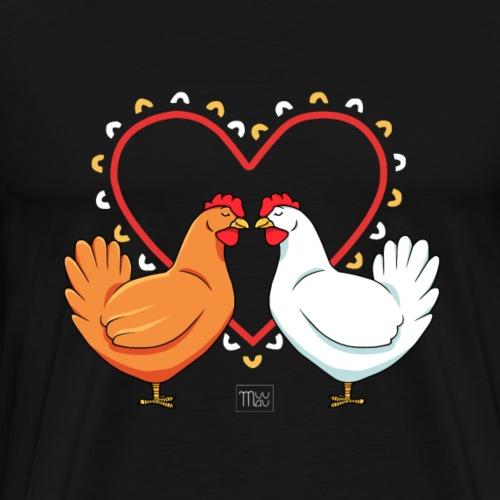Chicken Love - Miesten premium t-paita
