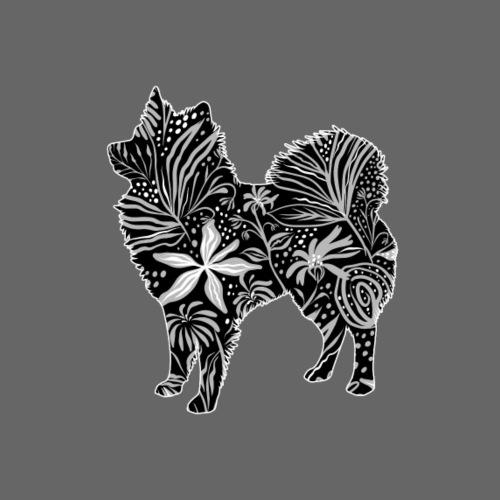 Flower Íslenskur fjárhund - Miesten premium t-paita