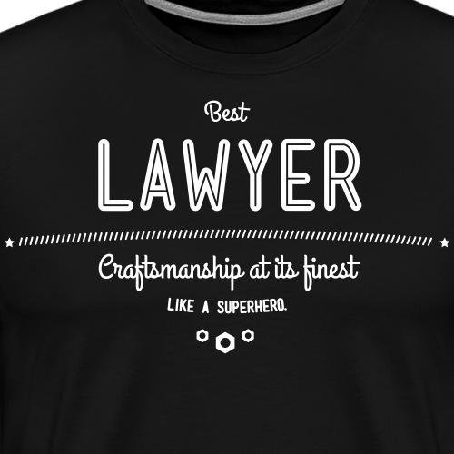 Bester Anwalt - wie ein Superheld - Männer Premium T-Shirt