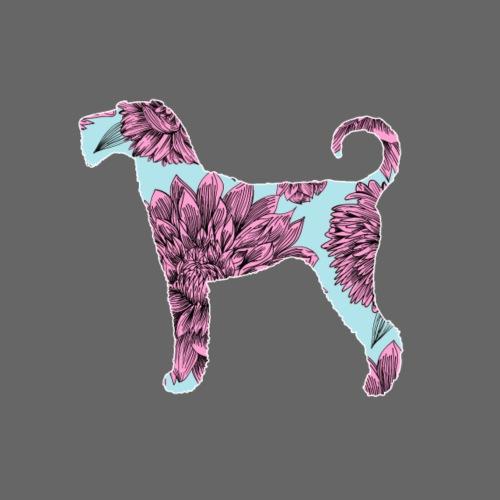 Flower Airedale II - Miesten premium t-paita