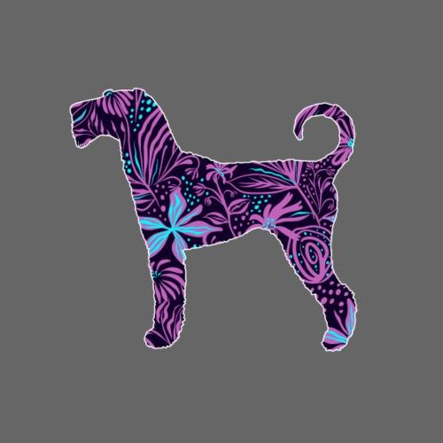 Flower Airedale - Miesten premium t-paita