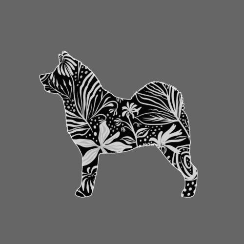 Flower American Akita - Miesten premium t-paita
