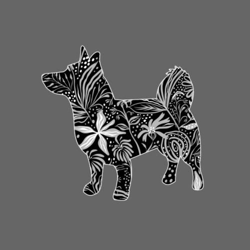 Flower Vallhund II - Miesten premium t-paita