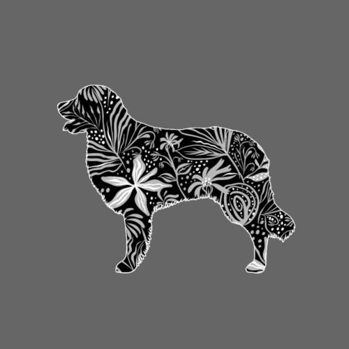 Flower Hovawart II - Miesten premium t-paita