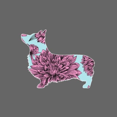 Flower Pembroke III - Miesten premium t-paita