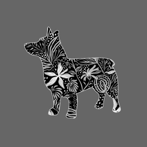 Flower Vallhund IV - Miesten premium t-paita