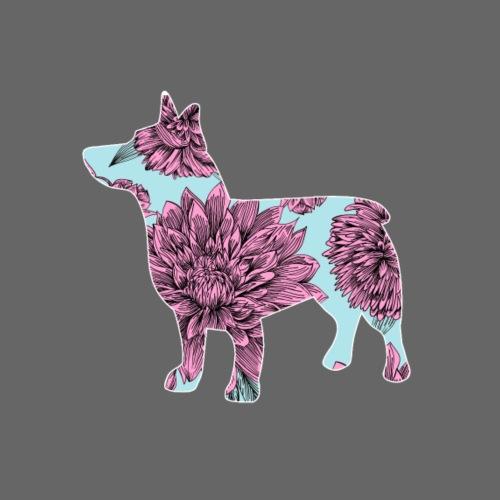 Flower Vallhund III - Miesten premium t-paita