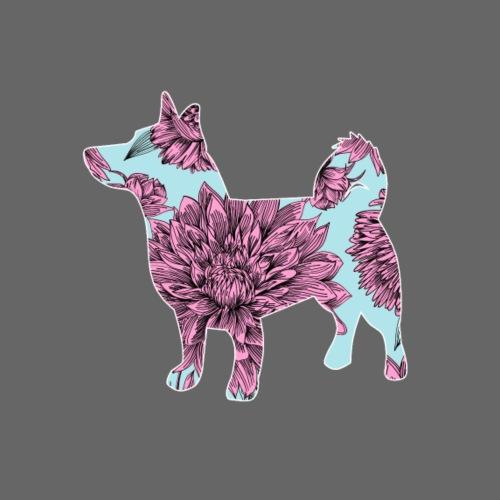 Flower Vallhund - Miesten premium t-paita