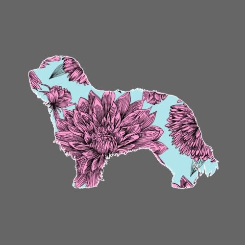 Flower Schapendoes - Miesten premium t-paita