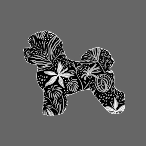 Flower Bichon Frise - Miesten premium t-paita