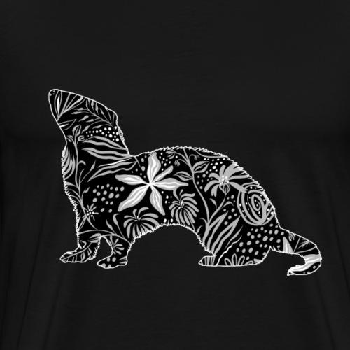 Flower Ferret - Miesten premium t-paita
