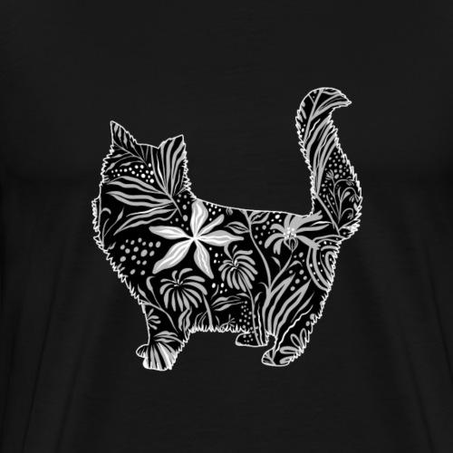 Flower Cat - Miesten premium t-paita