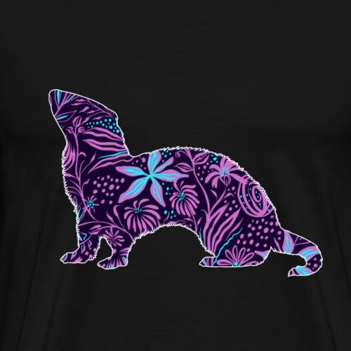 Flower Ferret II - Miesten premium t-paita