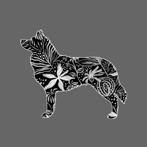 Flower Siberian Husky - Miesten premium t-paita