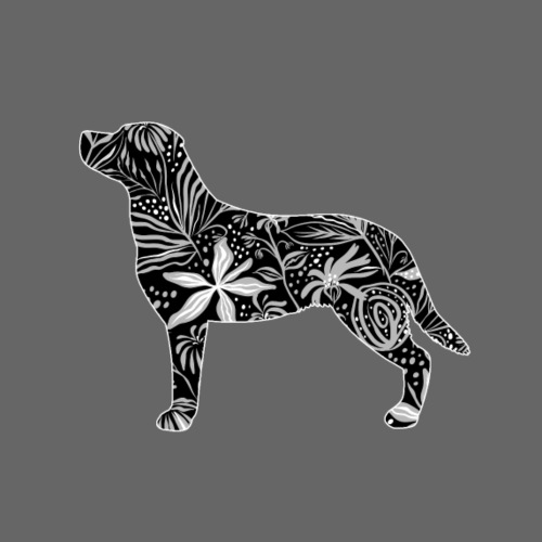Flower Labrador - Miesten premium t-paita