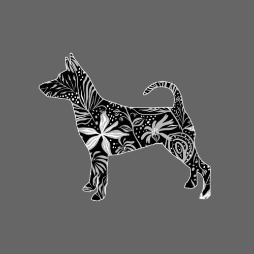 Flower MinPin - Miesten premium t-paita